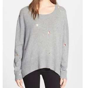 100% Cashmere Enza Costa Grey Oversized Sweater S
